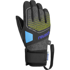 Reusch Torby R-TEX XT Guantes Jóvenes, black melange/safety yellow/brilliant blue